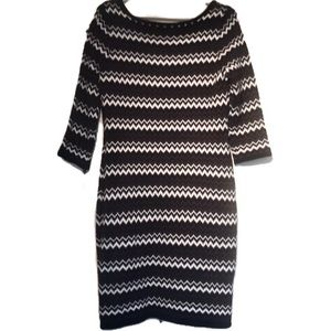 """CALVIN KLEIN"" NWT Black and White Sweater Dress."